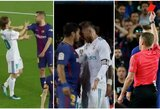 """El Clasico"" aistros: J.Alba griebė L.Modričiui už kaklo, L.Messi atkeršijo S.Ramosui, S.Roberto trenkė Marcelo"