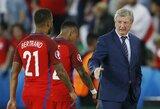 """R.Hodgsonas: """"Esame nusivylę, bet vieną dieną mušime įvarčius"""""""