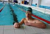 Į finalą nepatekęs D.Rapšys Europos plaukimo čempionate užėmė 10-ą vietą