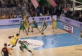 Gražiausias Eurolygos dešimtmečio dėjimas viena ranka užfiksuotas Kauno sporto halėje