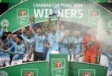 """Antras titulas iš eilės: """"Manchester City"""" po baudinių serijos triumfavo """"Carabao"""" taurėje"""
