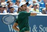 Prestižinio turnyro Sinsinatyje finale susikaus N.Djokovičius ir R.Federeris