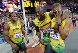 Jamaikos sprinteriai užėmė visą 200 m bėgimo garbės pakylą