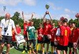 """Šešiskart moksleivių futbolo žaidynes """"Golas"""" laimėjusio Simno gimnazijos treneris: """"Brazilai pagal titulus turės mus vytis"""""""