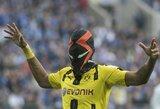 """Kol """"Borussia"""" žaidė išvykos rungtynes, P.E.Aubameyangas užfiksuotas vilkintis O.Dembele marškinėlius"""