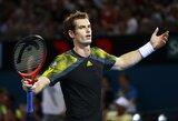 A.Murray'us tik po 3 setų kovos pateko į teniso turnyro Brisbene ketvirtfinalį