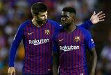 """G.Pique apie naujai pakeistą veją prieš rungtynes su """"Real Valladolid"""": """"Aikštės būklė buvo apgailėtina ir gėdinga"""""""
