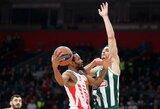 """Per 2 minutes 10 taškų deficitą panaikinusi """"Crvena Zvezda"""" parklupdė """"Panathinaikos"""""""