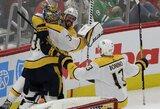 Pamatykite: NHL to nebuvo 7metus – vartininkas pelnė įvartį į tuščius vartus