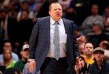 """""""Timberwolves"""" po pergalės atleido vyriausiąjį trenerį"""