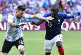 D.Deschampsas įvardino pagrindinį futbolininką, kuris prisidėjo prie L.Messio sustabdymo aštuntfinalyje