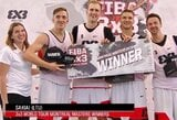 """""""Gulbelės"""" 3x3 krepšinio komanda  – pasaulio geriausiųjų dešimtuke"""