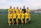 Pasikeitusi Lietuvos moterų futbolo rinktinė stos į kovą su rumunėmis ir belgėmis