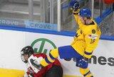 Smūgių statistika 65:6: pasaulio jaunimo čempionate – visiškas Švedijos ledo ritulininkų dominavimas