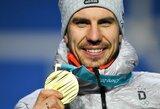Vokietija tebepirmauja Pjongčango olimpiados medalių įskaitoje, atsigauna kanadiečiai ir amerikiečiai