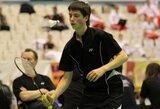 Lietuvos badmintono taurės etape Šakiuose nugalėjo A.Plavinas ir G.Janušonytė