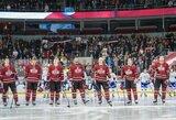 """Daugiausiai laiko ant ledo praleidęs N.Ališauskas padėjo """"Dinamo"""" iškovoti netikėtą pergalę"""