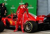 """""""Ferrari"""" greičiausiai atsisveikins su K.Raikkonenu, L.Hamiltonas tikina pasiilgsiąs suomio"""
