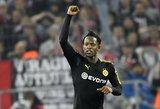 """M.Batshuayi debiutas: du įvarčiai ir sunki """"Borussia"""" pergalė"""