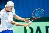 """L.Mugevičius pergalingai pradėjo """"Challenger"""" serijos turnyro Kazanėje kvalifikaciją"""