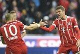 """Vokietijos """"Bundesliga"""": triuškinanti """"Bayern"""" pergalė bei sunki """"Schalke"""" išvyka į Brėmeną"""