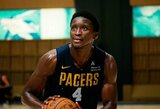 """""""Pacers"""" draugiškų rungtynių ciklą pradėjo be D.Sabonio, bet žaidė V.Oladipo"""