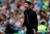 """""""Atletico"""" gynyba nusivylęs D.Simeone atskleidė, ką sutiktų paaukoti, jog rungtynėse praleistų mažiau įvarčių"""