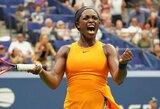 """""""US Open"""" čempionės titulą ginanti S.Stephens eliminavo V.Azarenką, latvė pateko į ketvirtąjį ratą"""