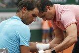 """R.Nadalis po trijų metų pertraukos """"Roland Garros"""" turnyre pralaimėjo bent vieną setą"""