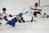 Įvartis į savo vartus nesutrukdė švedams patekti į pasaulio čempionato pusfinalį