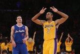 """Los Andželo derbyje – galingai mačo pabaigą sužaidusių """"Lakers"""" krepšininkų pergalė"""