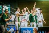 Lietuvos jauniai triuškinama pergale pateko į ketvirtfinalį