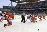 """Rungtynėse po atviru dangumi - įspūdinga """"Oilers"""" pergalė"""