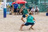 A.Mazūrą ir A.Knašą Europos jaunimo tinklinio čempionate sustabdė latviai