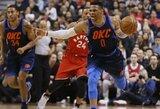 """""""Raptors"""" pergalių seriją užbaigė R.Westbrooko vedama """"Thunder"""" ekipa"""