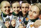 Pasaulio kariškių čempionate Lietuvos penkiakovininkės iškovojo sidabrą