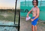 """Pamatykite: padelio tenisą žaidęs buvęs """"Barcos"""" kapitonas C.Puyolis pasidalino patirtos traumos vaizdais"""