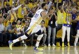 """""""Warriors"""" nesunkia pergale pradėjo Vakarų konferencijos pusfinalį"""
