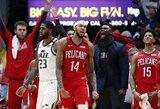 Naujajame Orleane – NBA žvaigždžių taškų šou ir pratęsimas