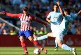 """""""Atletico"""" po penkerių metų pertraukos per rungtynes neatliko nė vieno smūgio į vartų plotą ir """"La Liga"""" čempionate patyrė pirmąją nesėkmę"""