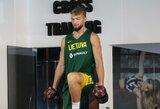 Vyrų krepšinio rinktinės treniruotėje – geros nuotaikos ir linksmos replikos