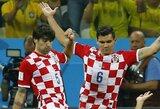 Kroatai atsisako bendrauti su spauda, kuri paviešino nuogų futbolininkų nuotraukas