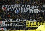 """""""Borussia"""" klubui teks uždaryti garsiąją ultrų tribūną"""