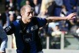 """Dėl rungtynių papirkinėjimų skandalo policija sulaikė """"Atalanta"""" gynėją A.Masiello"""