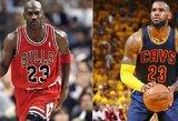 Tiek pat rungtynių sužaidę L.Jamesas ir M.Jordanas: statistinė šių žvaigždžių analizė