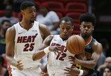 """""""Heat"""" nukovė prastai krepšį atakaviusią """"Hawks"""""""