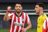 """Ispanijoje – L.Suarezo dublis ir dar viena """"Atletico"""" pergalė"""