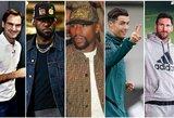"""""""Forbes"""" paskelbė daugiausiai per dešimtmetį uždirbusius pasaulio sportininkus"""