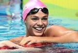 Čempionų lygoje dominavusi J.Jefimova pagerino 14-metės rusės rekordą