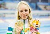 Lietuvos vėliavą jaunimo olimpinių žaidynių uždarymo ceremonijoje neš plaukikė A.Šeleikaitė